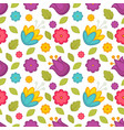 easter holiday spring flowers tulips seamless vector image vector image