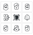 Family tree icons set vector image vector image
