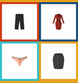 flat icon dress set of pants stylish apparel vector image