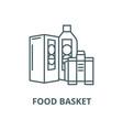 food basket line icon linear concept vector image vector image