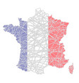 france stylized map shaped on tangled textured vector image
