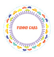 Funny frame with cars vector image vector image