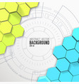 futuristic abstract mosaic background vector image