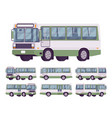green bus set vector image vector image