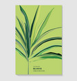 greenery palm invitation card template design vector image vector image