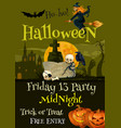 halloween trick or treat party poster vector image vector image