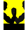 Hand Wrestling vector image vector image