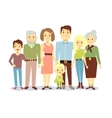 Happy family portrait flat characters vector image vector image