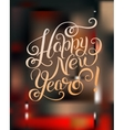 Happy New Year hand lettering congratulate vector image vector image