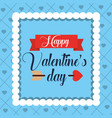 happy valentines day poster romantic hear vector image