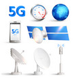 high speed mobile internet realistic set vector image