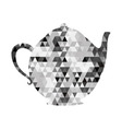 kettle or teapot triangle mosaic icon image vector image