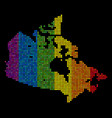 lgbt dotted canada map vector image