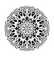 mandala ethnic decorative round element hand vector image vector image