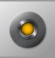 metallic circle button vector image vector image