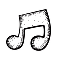 Music note doodle vector | Price: 1 Credit (USD $1)