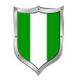 Nigeria flag button vector image