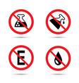 no preservative icon no additives no chemical vector image vector image