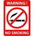 No smoking cigarette prohibited symbol vector image vector image