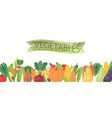 organic vegetables banner vector image vector image