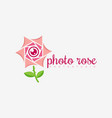 photo rose logo vector image vector image