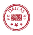 postal stamp from dallas vector image vector image