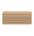 Punch card Vintage computer data storage vector image