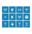 Radio Tower icons on blue background vector image vector image