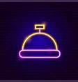reception button neon sign vector image