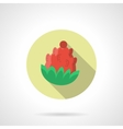Red pine cone round flat color icon vector image vector image