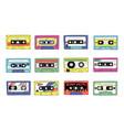 retro cassette 90s audio tape of rock and pop vector image