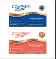 retro vintage business card template 3 vector image vector image