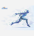 running man sport and competition background vector image vector image