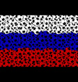 russian flag consisting of football balls vector image