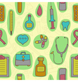 Seamless background with medical icons vector image