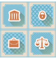 Seamless background with symbols of law and courts vector image