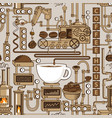 seamless pattern with a conveyor coffee production vector image vector image