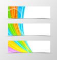set header banner spectrum design vector image vector image