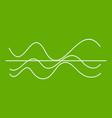 sound waves icon green vector image vector image