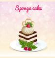 sponge cake vector image vector image