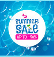 summer sale poster template season offer vector image