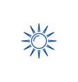 sun line icon concept sun flat symbol vector image