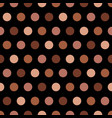 tan and beige polka dots on black background vector image