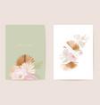watercolor dahlia pampas grass lunaria floral vector image vector image