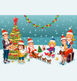 winter christmas party night vector image vector image