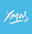 xmas holiday lettering vector image vector image