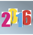 2016 Creative Happy New Year background vector image