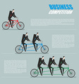 Business competition Managers on bike Business vector image