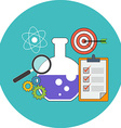 Research concept Flat design Icon in turquoise vector image