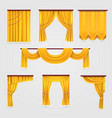 gold velvet curtain drapery wedding stage vector image